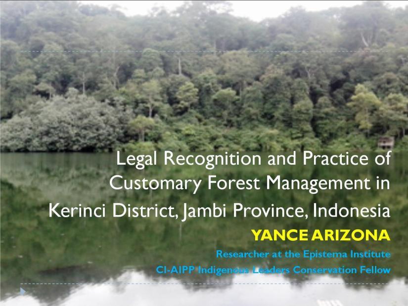 Presentation Hutan Adat Kerinci